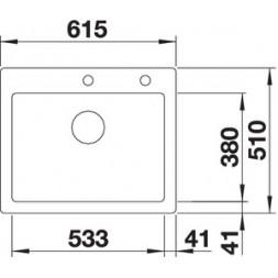 Кухонная мойка Blanco Palona 6 Керамика PuraPlus (глянцевый магнолия)