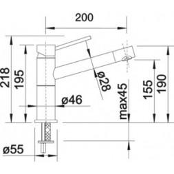 Смеситель Blanco ALTA Compact (гранит) мускат SILGRANIT – 521738