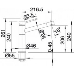 Смеситель Blanco ALTA-S Compact (гранит) мускат SILGRANIT – 521739