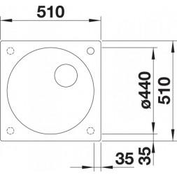 Кухонная мойка Blanco ARTAGO 6 темная скала с отводной арматурой InFino®