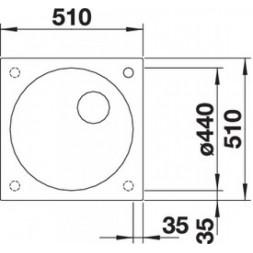 Кухонная мойка Blanco ARTAGO 6-IF/A антрацит с отводной арматурой InFino®