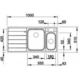 Кухонная мойка Blanco AXIS III 6S-IF (чаша справа) нерж.сталь зеркальная полировка