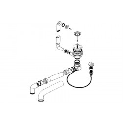 Набор доукомплектации клапаном-автоматом BLANCO нерж. сталь полированная (x) – 217163