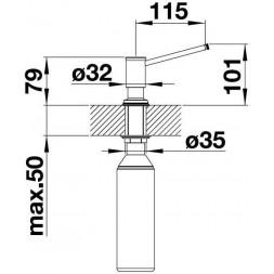 Дозатор жидкого моющего средства BLANCO LIVIA