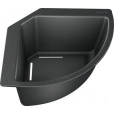 Угловой коландер Blanco черный пластик