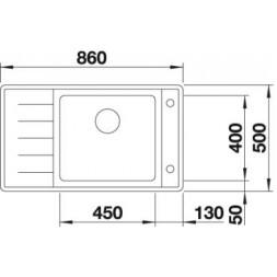 Кухонная мойка Blanco Andano Xl 6 S-If Compact Нержавеющая сталь (сталь с зеркальной полировкой)