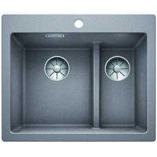 Кухонная мойка Blanco Pleon 6 Split Silgranit PuraDur (алюметаллик)