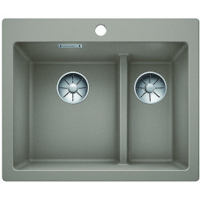 Кухонная мойка Blanco Pleon 6 Split Silgranit PuraDur (серый беж)