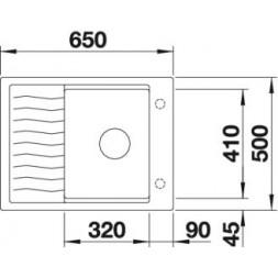Кухонная мойка Blanco Elon 45S Silgranit PuraDur (мускат)
