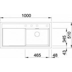 Кухонная мойка Blanco Zenar Xl 6 S Silgranit PuraDur (мускат)