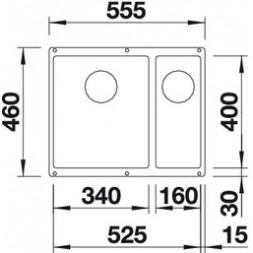 Кухонная мойка Blanco Subline 340/160-U Silgranit PuraDur (мускат)