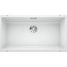 Мойка для кухни Blanco SUBLINE 800-U SILGRANIT белый с клапаном-автоматом