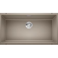 Мойка для кухни Blanco SUBLINE 800-U SILGRANIT серый беж с клапаном-автоматом