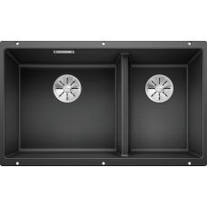 Мойка для кухни Blanco SUBLINE 430/270-U SILGRANIT антрацитс клапаном-автоматом