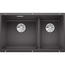 Мойка для кухни Blanco SUBLINE 430/270-U SILGRANIT темная скала с клапаном-автоматом