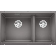 Мойка для кухни Blanco SUBLINE 430/270-U SILGRANIT алюметаллик с клапаном-автоматом