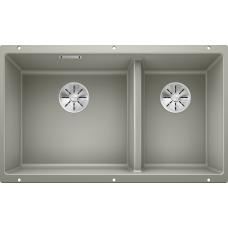 Мойка для кухни Blanco SUBLINE 430/270-U SILGRANIT жемчужныйс клапаном-автоматом