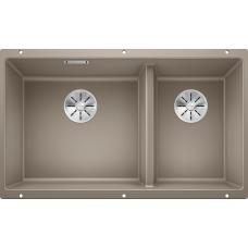 Мойка для кухни Blanco SUBLINE 430/270-U SILGRANIT серый беж с клапаном-автоматом