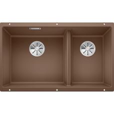 Мойка для кухни Blanco SUBLINE 430/270-U SILGRANIT мускатс клапаном-автоматом