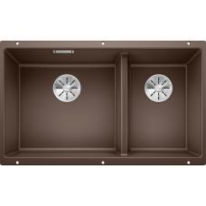 Мойка для кухни Blanco SUBLINE 430/270-U SILGRANIT кофе с клапаном-автоматом