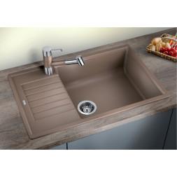 Кухонная мойка Blanco Zia XL 6S Compact Silgranit PuraDur темная скала