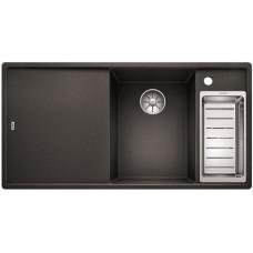 Кухонная мойка Blanco AXIA III 6 S антрацит чаша справа, разделочный столик ясень c кл.-авт. InFino®