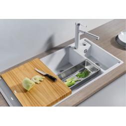 Кухонная мойка Blanco AXIA III 6 S жемчужный чаша справа, разделочный столик ясень c кл.-авт. InFino®