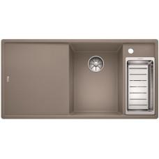 Кухонная мойка Blanco AXIA III 6 S серый беж чаша справа, разделочный столик ясень c кл.-авт. InFino®