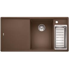 Кухонная мойка Blanco AXIA III 6 S мускат чаша справа, разделочный столик ясень c кл.-авт. InFino®