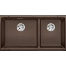 Мойка для кухни Blanco SUBLINE 480/320-U SILGRANIT кофе с клапаном-автоматом