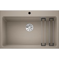 Кухонная мойка Blanco Etagon 8 Silgranit PuraDur (серый беж)