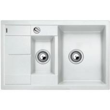 Мойка для кухни Blanco METRA 6 S COMPACT SILGRANIT белый с клапаном-автоматом