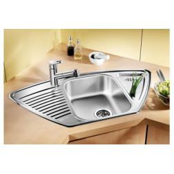 Кухонная мойка Blanco Tipo 9 E Нержавеющая сталь (сталь декор)