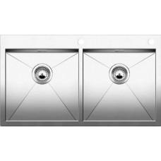 Кухонная мойка Blanco Zerox 400/400-If/А Нержавеющая сталь (сталь с зеркальной полировкой)