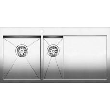 Мойка для кухни Blanco ZEROX 6 S-IF A (чаша слева) нерж. сталь зеркальная полировка с клапаном-автоматом