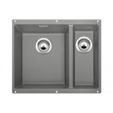 Мойка для кухни Blanco SUBLINE 340/160-U SILGRANIT алюметаллик с клапаном-автоматом (чаша слева)