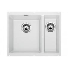 Мойка для кухни Blanco SUBLINE 340/160-U SILGRANIT белый с клапаном-автоматом (чаша слева)