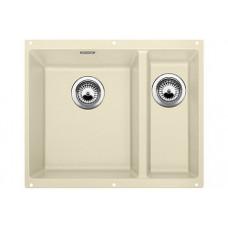 Мойка для кухни Blanco SUBLINE 340/160-U SILGRANIT жасмин с клапаном-автоматом (чаша слева)