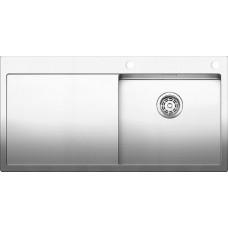 Мойка для кухни Blanco CLARON 5 S-IF (чаша справа) нерж. сталь зеркальная полировка с клапаном-автоматом