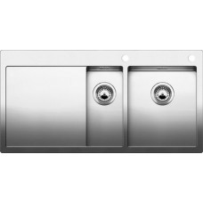 Мойка для кухни Blanco CLARON 6 S-IF (чаша справа) нерж. сталь зеркальная полировка с клапаном-автоматом