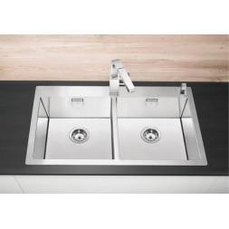 Кухонная мойка Blanco Claron 400/400-If/А Нержавеющая сталь (сталь с зеркальной полировкой)