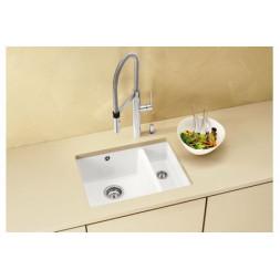 Кухонная мойка Blanco Subline 350/150-U Керамика PuraPlus (матовый белый)