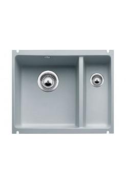 Кухонная мойка Blanco Subline 350/150-U Керамика PuraPlus (серый алюминий)