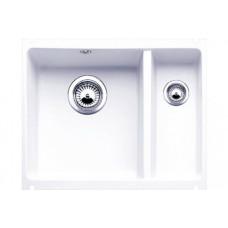 Мойка для кухни Blanco SUBLINE 350/150-U Сeramic глянцевый белый PuraPlus с клапаном-автоматом