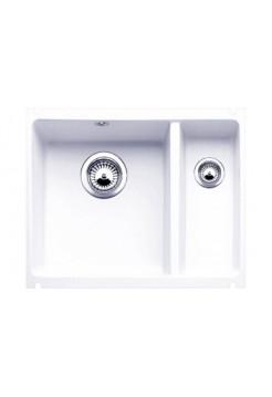 Кухонная мойка Blanco Subline 350/150-U Керамика PuraPlus (глянцевый белый)