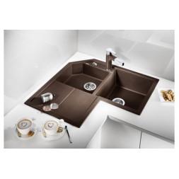 Кухонная мойка Blanco Metra 9 E Silgranit PuraDur (кофе)