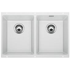 Мойка для кухни Blanco SUBLINE 350/350-U SILGRANIT белый с клапаном-автоматом