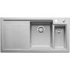 Мойка для кухни Blanco AXON II 6 S КЕРАМИКА (чаша справа) серый алюминий PuraPlus с клапаном-автоматом