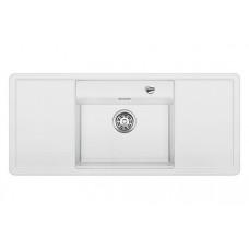 Мойка для кухни Blanco ALAROS 6 S (с черной доской) SILGRANIT белый с клапаном-автоматом
