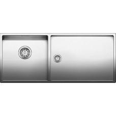 Мойка для кухни Blanco CLARON 400/550-T-IF (чаша слева) нерж. сталь зеркальная полировка